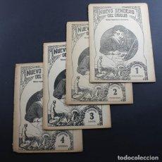 Libros antiguos: 4 CUADERNOS NUEVO SENDERO DEL DIBUJO ISIDRO ROSES, 1 Y 2 INDUSTRIAL,3 LINEAL Y 4 ADORNO, CUADERNO:. Lote 92934955