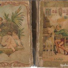Libros antiguos: DON QUIJOTE DE LA MANCHA M. CERVANTES EDICION S. CALLEJA 1876 PARA ESCUELAS ILUSTRADO GRABADOS. Lote 93827550