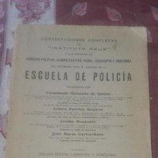 Libros antiguos: ESCUELA DE POLICÍA.1928.INSTITUTO REUS.. Lote 94112195