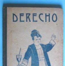 Libros antiguos: RUDIMENTOS DE DERECHO. SEGUNDO GRADO. POR D. VICTORIANO ASCARZA. EL MAGISTERIO ESPAÑOL, 1918.. Lote 94580631
