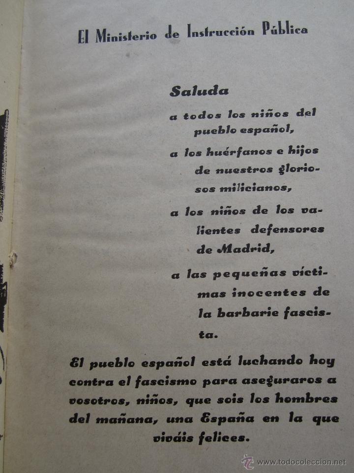 Libros antiguos: por que , cuento guerra civil para los niños antifacistas,instruccion publica 1936 republica - Foto 3 - 94778607