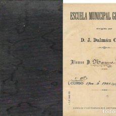 Libros antiguos: CUADERNO MANUSCRITO ALUMNO .- CURSO 1900 A 1901. Lote 95869035