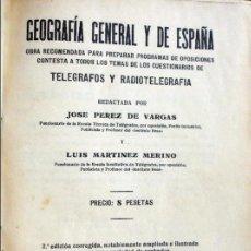 Libros antiguos: GEOGRAFÍA GENERAL Y DE ESPAÑA.-1934. Lote 96936271