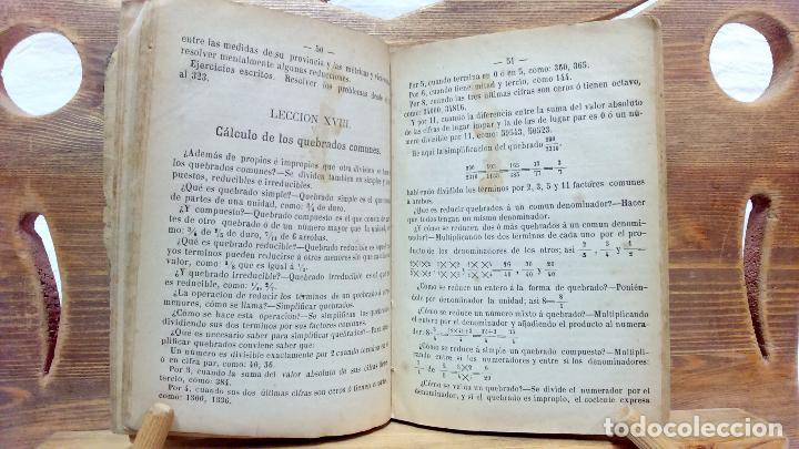 Libros antiguos: LA ARITMÉTICA DE LAS ESCUELAS DE PRIMERA ENSEÑANZA. JOSÉ BERTOMEU, BARCELONA. 1878 - Foto 5 - 97113955