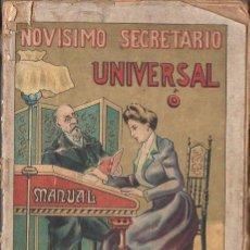 Libros antiguos: NOVÍSIMO SECRETARIO UNIVERSAL MANUAL EPISTOLAR (MAUCCI, 1904). Lote 97415627
