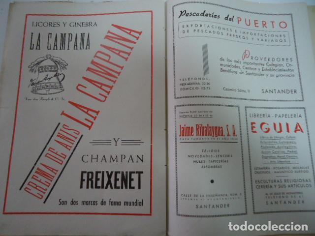 Libros antiguos: COLEGIO SAN JOSE --PP. ESCOLAPIOS SANTANDER - MEMORIA 1942/43 - Foto 7 - 97878167