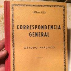 Libros antiguos: ANTIGUO LIBRO ESCOLAR CORRESPONDENCIA GENERAL MÉTODO PRÁCTICO POR SISTEMA COTS AÑO 1965 . Lote 98391067