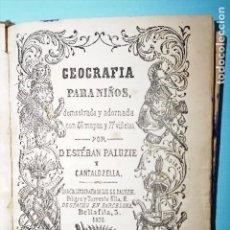 Libros antiguos: GEOGRAFIA PARA NIÑOS - ESTEBAN PALUZIE - AÑO 1870 - MAPAS Y VIÑETAS. Lote 99451303