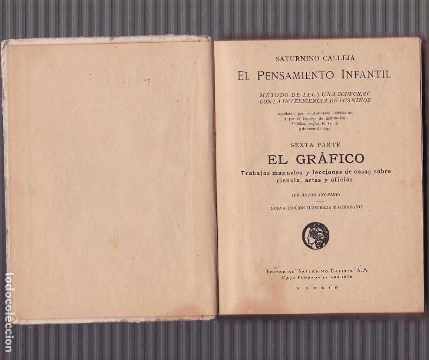 Libros antiguos: EL GRÁFICO - EL PENSAMIENTO INFANTIL - SEXTA PARTE - SATURNINO CALLEJA - Foto 2 - 101413343