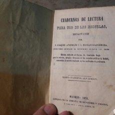 Libros antiguos: CUADERNOS DE LECTURA PARA USO DE LAS ESCUELAS.1874. Lote 101571059