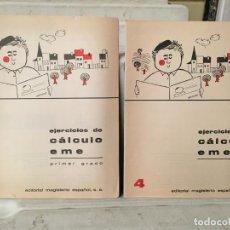 Libros antiguos: CUADERNO DE EJERCICIOS DE CALCULO EME AÑOS 60. Lote 101778855