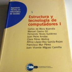 Libros antiguos: ESTRUCTURA Y TECNOLOGIA DE COMPUTADORES I. Lote 102357675