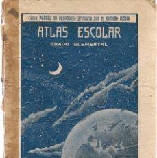 Libros antiguos: ATLAS ESCOLAR. GRADO ELEMENTAL. CURSO PORCEL. TIPOGRAFIÁ PORCEL. PALMA DE MALLORCA 1926(Z/36). Lote 102937175