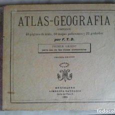Libros antiguos: ANTIGUO ATLAS GEOGRAFÍA AÑO 1904. Lote 103390763