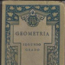 Libros antiguos: NOCIONES DE GEOMETRIA PRACTICA Y AGRIMENSURA. SEGUNDO GRADO. AÑO 1921. Lote 103658907