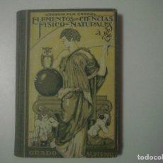 Libros antiguos: LIBRERIA GHOTICA. PLA CARGOL. ELEMENTOS DE CIENCIAS FISICO-NATURALES. GRADO SUPERIOR. 1944. GRABADOS. Lote 105933127