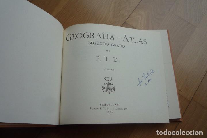 Libros antiguos: GEOGRAFIA Y ATLAS SEGUNDO GRADO FACSIMIL. - Foto 2 - 105989559