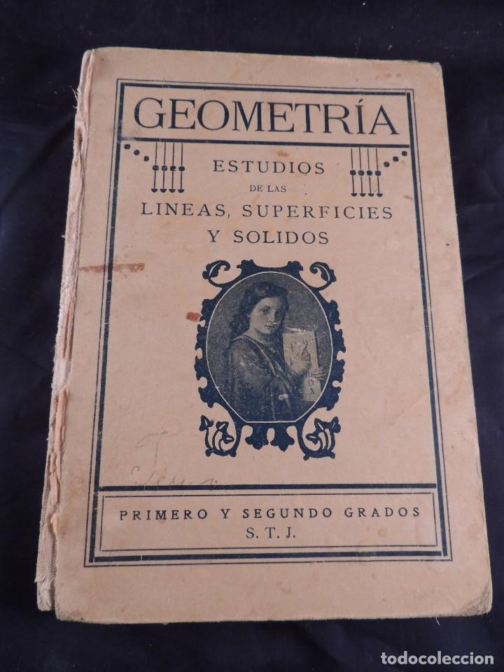 Libros antiguos: LIBRO DE GEOMETRIA LINEAS SUPERFICIES SOLIDOS PRIMER CURSO - Foto 2 - 106095519