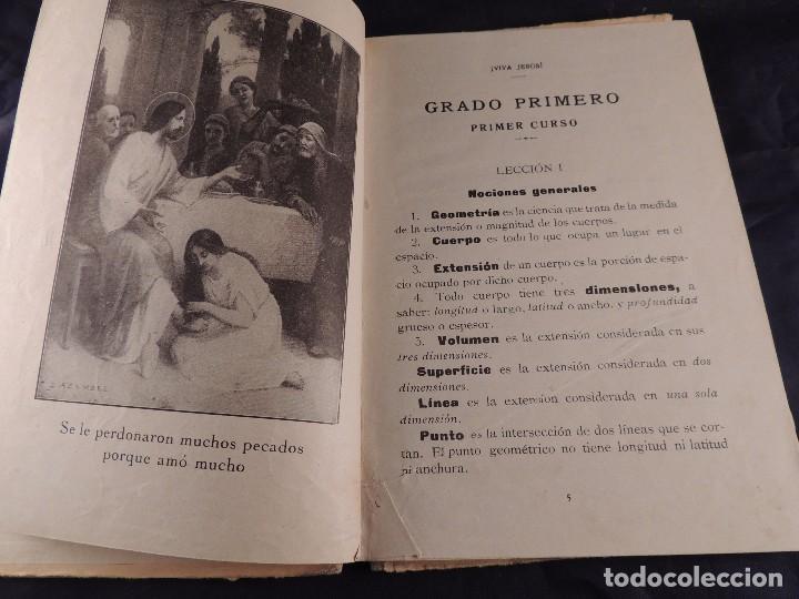 Libros antiguos: LIBRO DE GEOMETRIA LINEAS SUPERFICIES SOLIDOS PRIMER CURSO - Foto 3 - 106095519