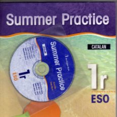 Libros antiguos: SUMMER PRACTICE 1 ESO (CATALAN EDITION) DE BURLINGTON BOOKS + CD. ANNA ELLIS Y LINDA MARKS. Lote 107538615