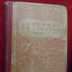 Libros antiguos: LECTURAS GRADUADAS. LIBRO TERCERO. F.T.D. 1931. Lote 108439091