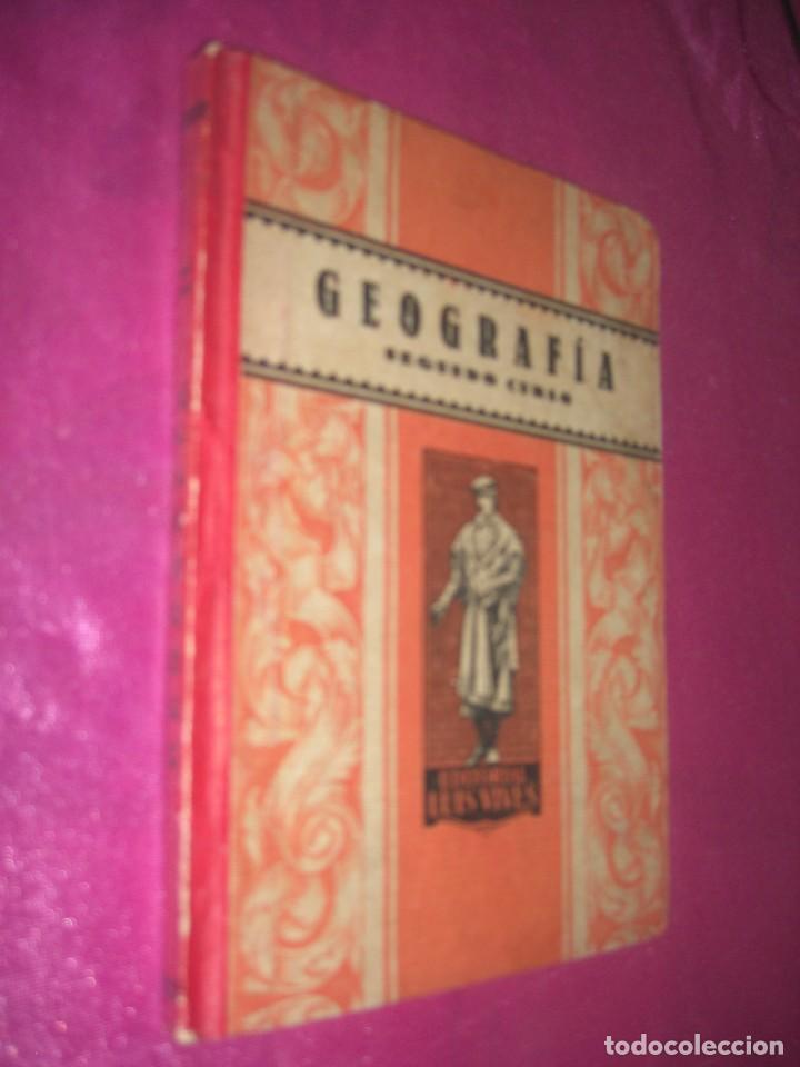 GEOGRAFIA SEGUNDO CURSO LUIS VIVES 1939 ILUSTRADO (Libros Antiguos, Raros y Curiosos - Libros de Texto y Escuela)