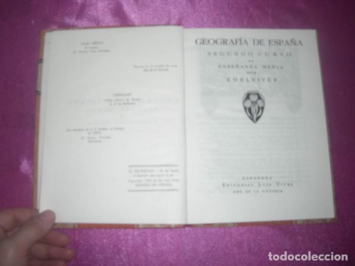 Libros antiguos: GEOGRAFIA SEGUNDO CURSO LUIS VIVES 1939 ILUSTRADO - Foto 4 - 109431467