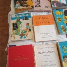 Libros antiguos: LOTE LIBROS DE TEXTO AÑOS 60 - INCLUYE ENCICLOPEDIA ALVAREZ. Lote 109942151