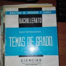 Libros antiguos: TEMAS DE GRADO 1967 CIENCIAS. Lote 110913879