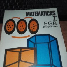 Libros antiguos: MATEMATICAS 7 EGB 1974 ED MARCEA. Lote 110920791