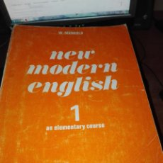 Libros antiguos: NEW MODERN ENGLISH 1 CURSO 1968 MANGOLD. Lote 110922767