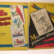 Libros antiguos: ANTIGUO CUADERNO DE DIBUJO EDIT. ROMA - LUIS MALLAFRÉ AÑOS 70. Lote 110939291