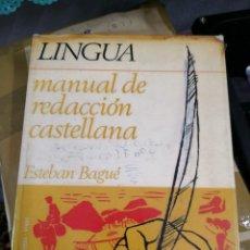 Libros antiguos: MANUAL DE REDACCIÓN CASTELLANA. LINGUA MÁS REGALO LIBRO BOLSILLO VEN Y ENLOQUECE . Lote 113628887