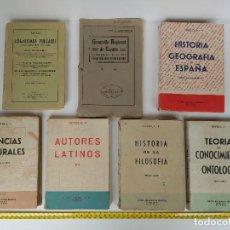 Libros antiguos: LOTE DE 7 LIBROS DE TEXTO. Lote 114115219