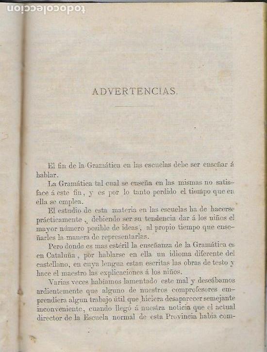 Libros antiguos: Método práctico para la enseñanza de la lengua castellana en Cataluña / O. Fonoll. BCN, 1862. - Foto 2 - 115187351