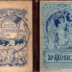 Livros antigos: GABINO ENCISO : LA MÚSICA (BASTINOS, S. F.). Lote 115350215