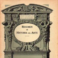Libros antiguos: RESUMEN DE HISTORIA DEL ARTE (SEIX BARRAL, 1935). Lote 115350271
