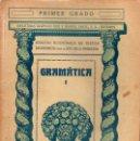 Libros antiguos: GRAMÁTICA PRIMER GRADO (SEIX BARRAL, 1935). Lote 115350407