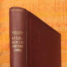 Libros antiguos: ESTATICA DE LAS CONSTRUCCIONES(20€). Lote 115416119