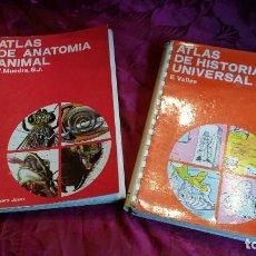 Libros antiguos: DOS ATLAS, ANATOMÍA ANIMAL E HISTORIA UNIVERSAL.. Lote 116174767