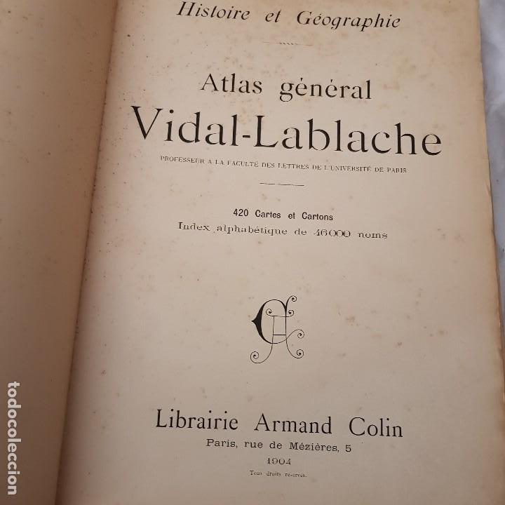 Libros antiguos: ATLAS GENERAL VIDAL LABLACHE 1904 - Foto 2 - 116722967