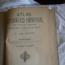 Libros antiguos: ATLAS GEOGRÁFICO UNIVERSAL REINOSO SIGLOXIX. Lote 116919107