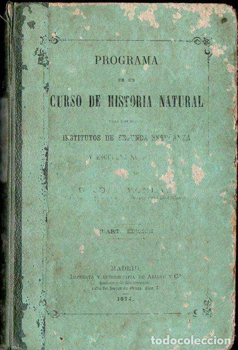 MONLAU : HISTORIA NATURAL (ARIBAU, SUCESORES DE RIVADENEYRA, 1873) (Libros Antiguos, Raros y Curiosos - Libros de Texto y Escuela)