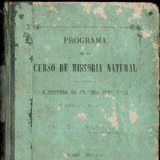 Libros antiguos: MONLAU : HISTORIA NATURAL (ARIBAU, SUCESORES DE RIVADENEYRA, 1873). Lote 117215335