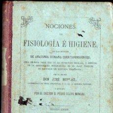Libros antiguos: MONLAU : FISIOLOGÍA E HIGIENE CON NOCIONES DE ANATOMÍA HUMANA (RIVADENEYRA, 1872). Lote 117215527