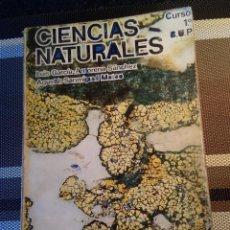 Libros antiguos: 1-CIENCIAS NATURALES, 1º BUP, EDITORIAL LIBRERÍA GENERAL 1976. Lote 117325107