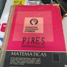 Libros antiguos: FORMACION PROFESIONAL EVEREST MATEMATICAS 1979. Lote 117517831