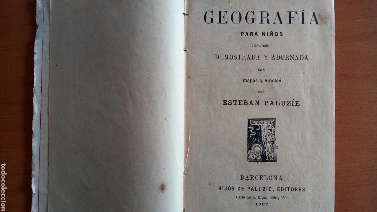 Libros antiguos: Geografía para niños. - Foto 4 - 120498887