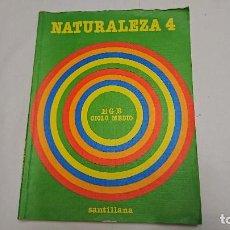 Libros antiguos: LIBRO DE TEXTO NATURALEZA 4°EGB EDITORIAL SANTILLANA AÑO 1982 . Lote 121671363