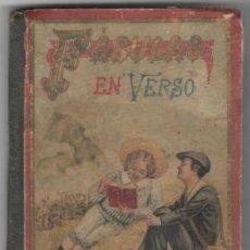 Libros antiguos: FÉLIX MARÍA SAMANIEGO: FÁBULAS EN VERSO CASTELLANO. M., SATURNINO CALLEJA 1901. Lote 122126523